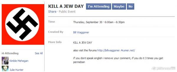 Kill a Jew Day on Facebook