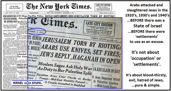 NYT - It's about hatred of Jews, pure and simple.