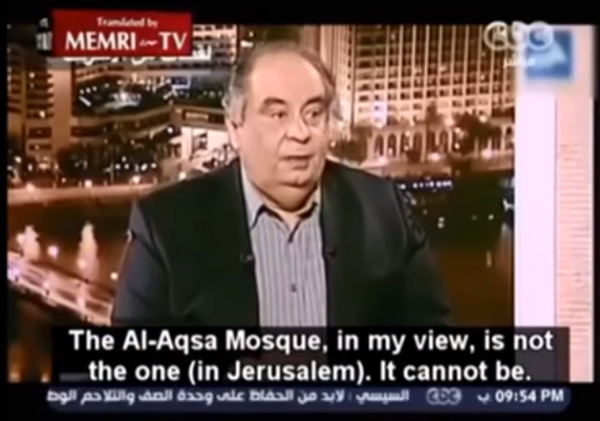 Dr. Abbed al-Munam Fuad during Egyptian CBC TV interview - MEMRI sreenshot