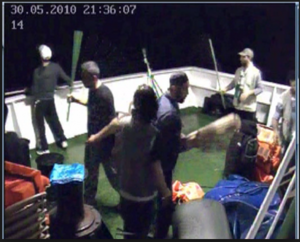 Footage taken from the Mavi Marmara security cameras shows the activists preparing to attack IDF soldiers - Wikipedia