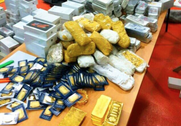 Contraband seized from EU vehicle at Allenby Bridge. - Photo: CUSTOMS AUTHORITY