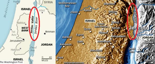 Jordan Valley Map