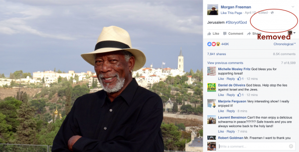 Morgan Freeman FB screenshot