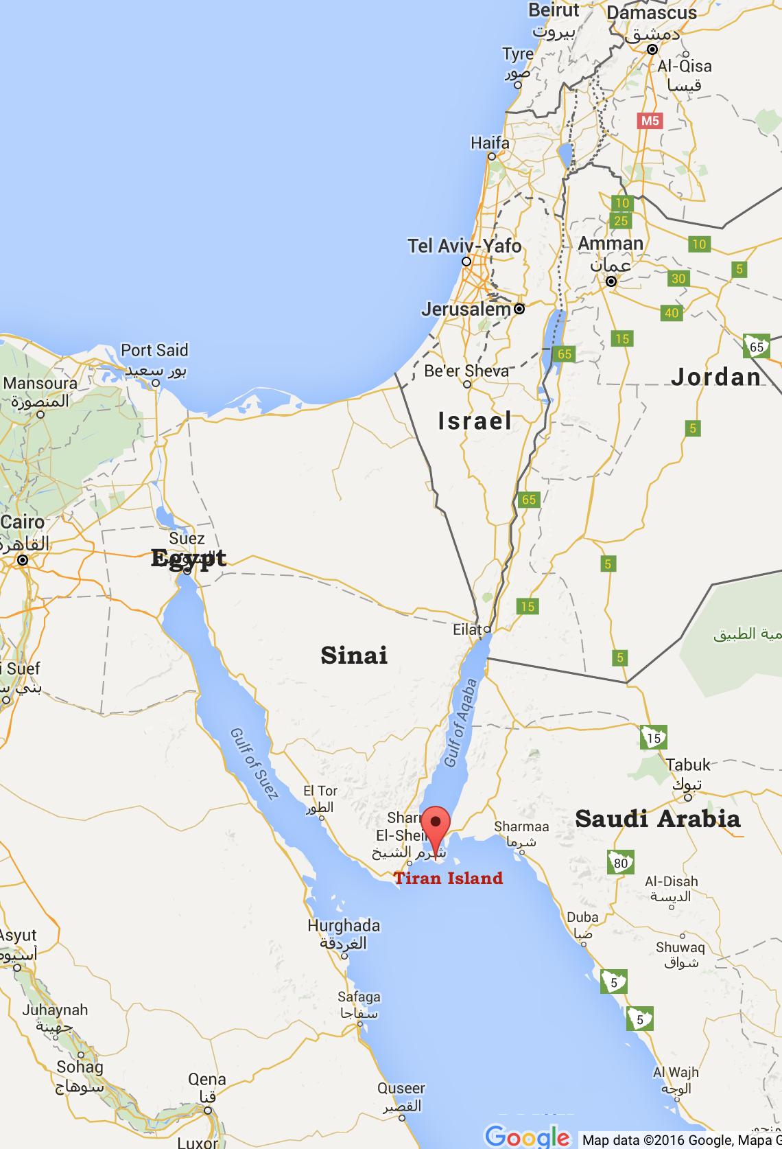 Israel and Stuff » Tiran Island – Google mapsIsrael and Stuff