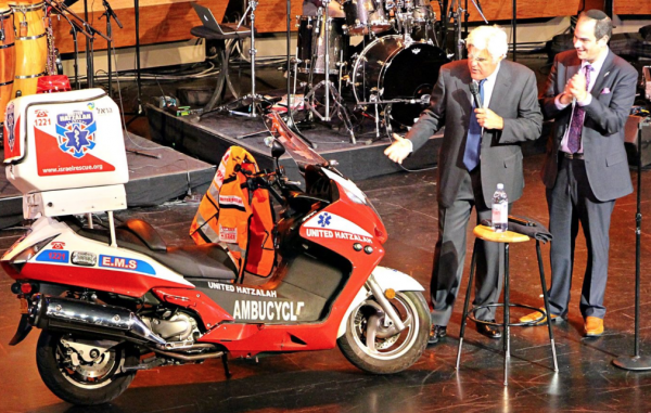 With Jay Leno - United Hatzalah Facebook page