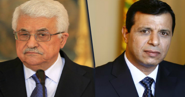 Composit photo of Mohammed Dahlan (right) and Mahmoud Abbas (left)