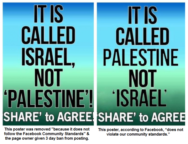 Facebook anti-Israel Bias