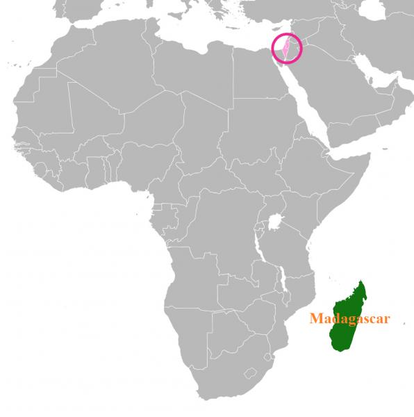 Map of Madagascar, Israel