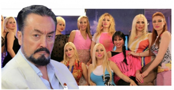 Adnan Oktar and his harem of peace activists