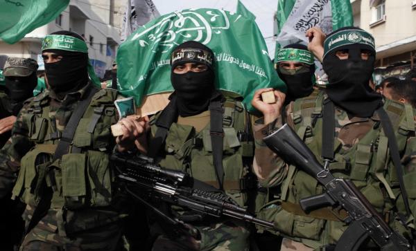 Hamas terrorists from-the izz ad din al qassam brigades at funeral - photo: Wikimedia Commons