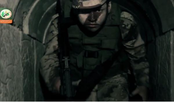 A Hamas terroristin an underground terror-tunnel. - Photo: screenshot