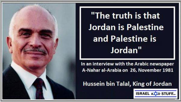 Jordan is Palestine, the late King Hussein - IsraelandStuff/PP