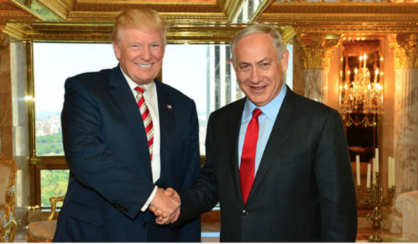 PM Benjamin Netanyahu with Republican Presidential candidate Donald Trump in New York, Sunday, September 25, 2016. - Photo: Israel's Gov't Press Office/Kobi Gideon