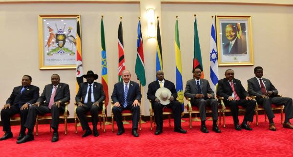 Prime Minister Benjamin Netanyahu at summit meeting with leaders of 7 East African states - Photo: Israel's GPO/Kobi Gideon