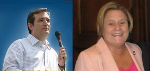 Sen. Ted Cruz (R-TX) and U.S. Rep. Ileana Ros-Lehtinen (R-FL) - Facebook