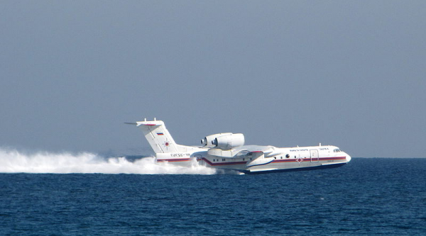 Russian Beriev Be-200 filling water tanks in the Mediterranean Sea while in operation in 2010 Mount Carmel forest fire in Israel - Wikimedia Commons,Michael Sender
