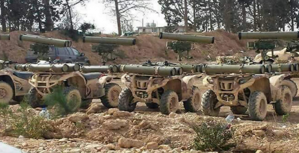 Hezbollah 4-wheeled ATVs with Kornet missiles mounted on them - Arab media