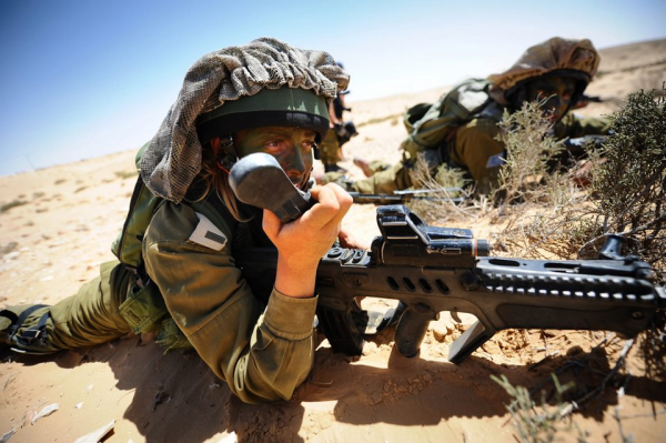 IDF Soldiers of the Caracal Battalion, charged with guarding Israel's southern border - Photo courtesy IDF Spokespersons Unit