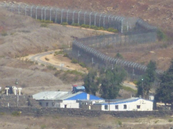 IDF base and fence on Israel's border with Syria - IsraelandStuff/PP