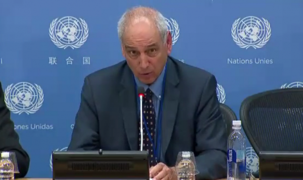 Michael Lynk, UN Special Rapporteur on human rights in the Palestinian territories - Screenshot/ UN Web TV