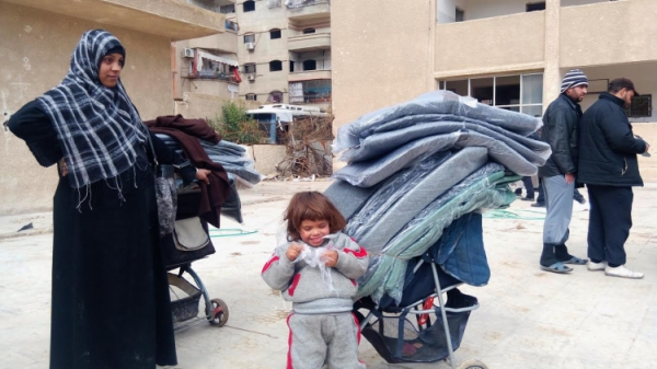 UNRWA aid reaches Yarmouk refugee camp in Syria. - Photo courtesy UNRWA.ORG