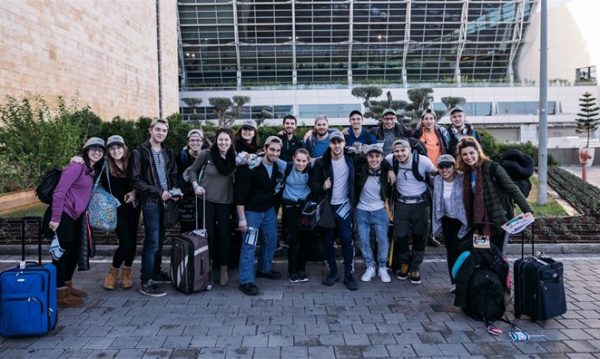20 future Lone Soldiers - 'present-day Maccabees' arrive in Israel 28 Dec 2016. - Photo/ Ben Kelmer, courtesy of Nefesh B'Nefesh