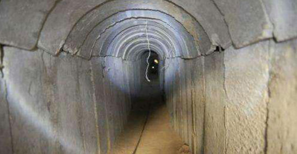A Hamas terror-tunnel leading from Gaza to Israel - Photo: IDF Spokesperson's Unit
