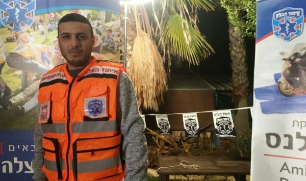 Hassan Nasrallah, an Israeli Lifesaver - Photo- United Hatzalah