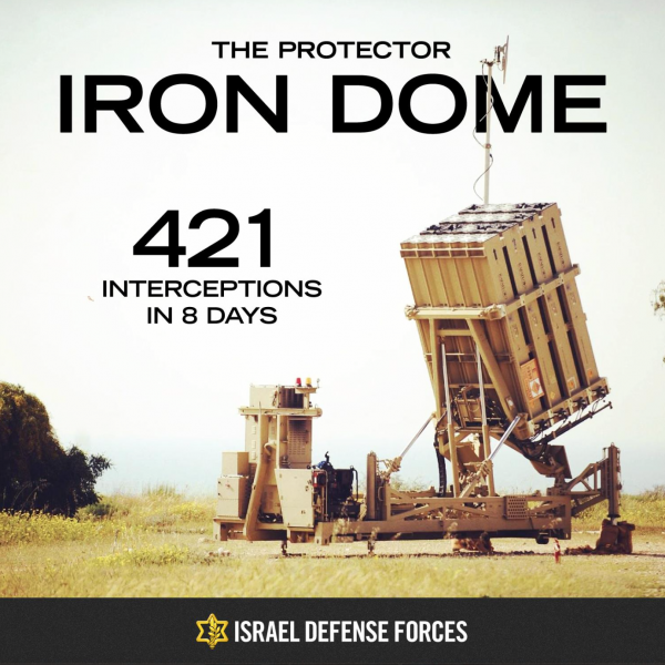 Iron Dome - Posted on Facebook by the IDF November 22, 2012