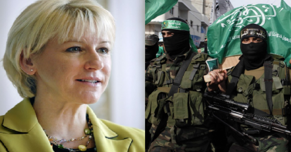 Margot Wallström, who supports Hamas - Photos: Wikimedia Commons