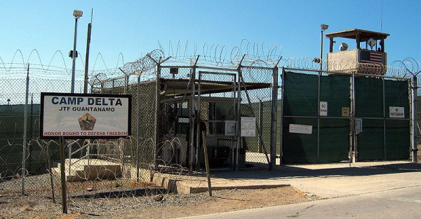 The entrance to Camp 1 in Guantanamo Bay's Camp Delta. - Photo: Wikimedia Commons/US Dept of Defense