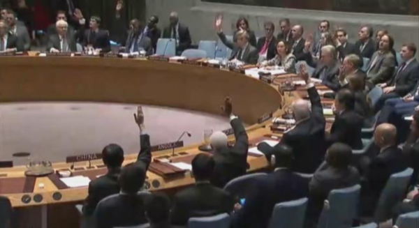 Voting against Israel at UN Security Council, Fri 23 Dec 2016 - UN video screenshot