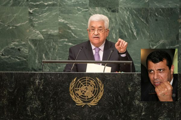 When Palestinian Authority President Mahmoud Abbas addressed the UN General Assembly on Sept. 22, 2016, he did not share with world leaders that his Arab brothers are pressuring him to introduce major reforms in his Fatah faction, and allow some of its expelled leaders, including Abbas's rival Mohamed Dahlan (inset), to return.