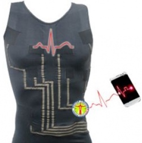HealthWatch develops smart-digital garments with interwoven sensors measuring vital signs - Screenshot from HealthWatch website