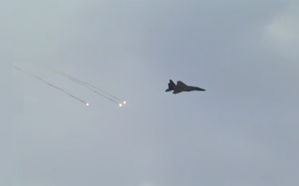 IAF pilot takes counter-measures - Photo: IDF Spokesperson's Unit