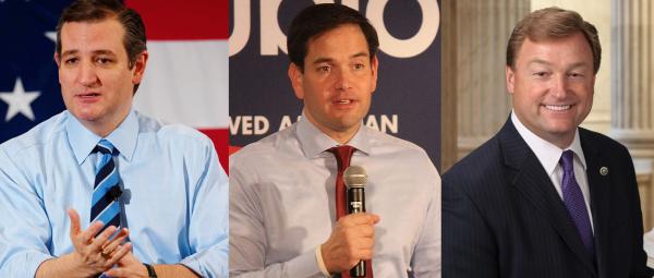 Senators (l-r) Ted Cruz, Marco Rubio and Dean Heller - Wikimedia Commons