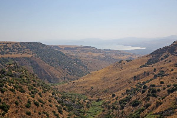 The view of the Sea of Galilee from Hippos-Sussita Excavations Project - Photo- Hippos.Sussita on Facebook