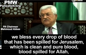 Abbas incites further by honoring those killed trying to kill Jews. - PMW screenshot