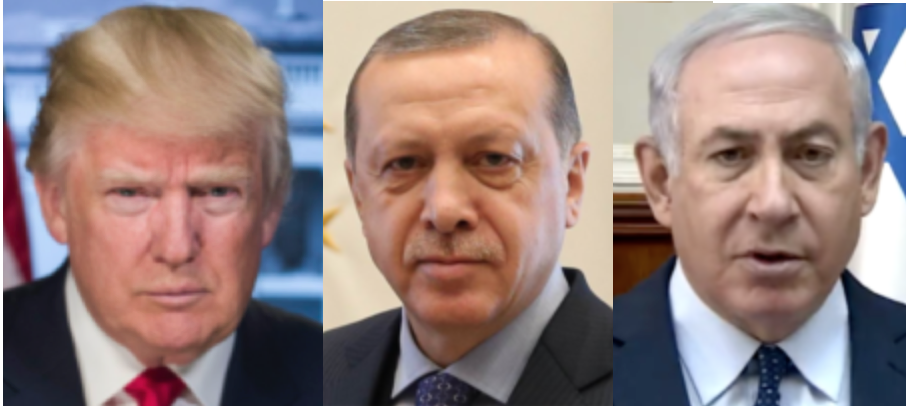 Image result for photos of erdogan netanyahu trump