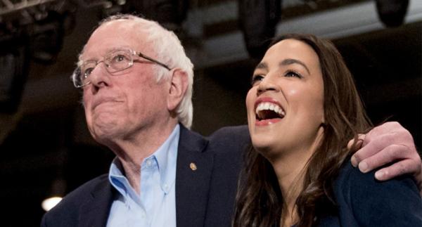 Alexandria Ocasio-Cortez (left) and Bernie Sanders - Photo/ AP.png