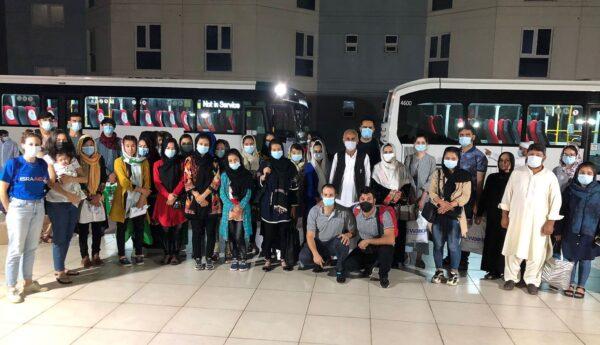 42 Afghan women and girls evacuatedby IsraAID. - Photo Credit, Boaz Arad/IsraAID